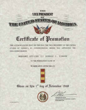 United States Marine Corps Warrant Officer Promotion Warrant