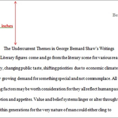 college essay double spaced