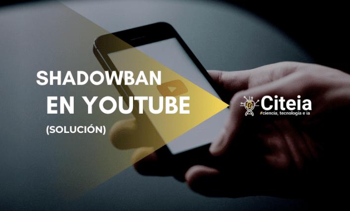 shadowban នៅលើអត្ថបទគម្រប YouTube