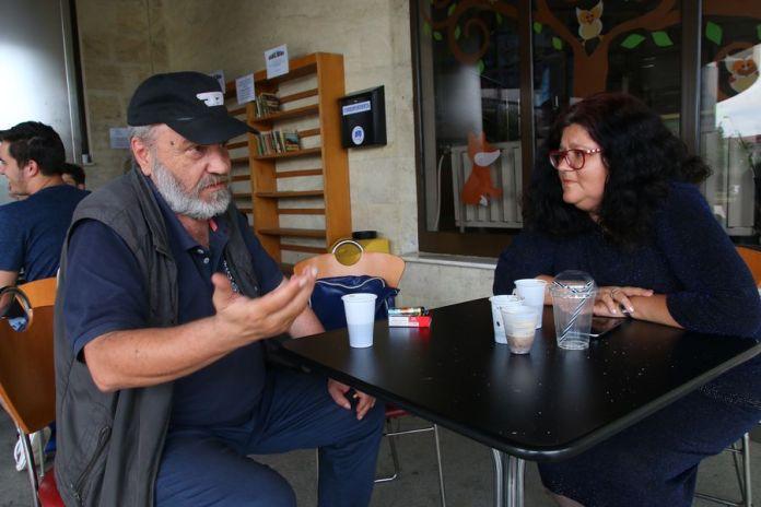 Daniela Sitar Tăut, alături de autorul cărţii, Marian Ilea