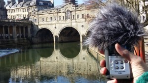 Field recording at Pulteney weir.