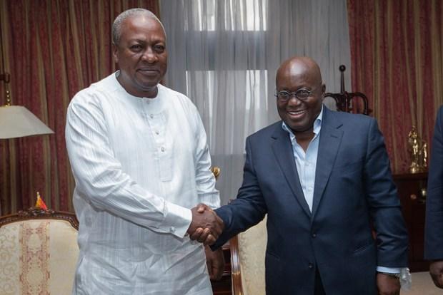 President-Elect Nana Addo and outgoing President, Nana Akufo-Addo.