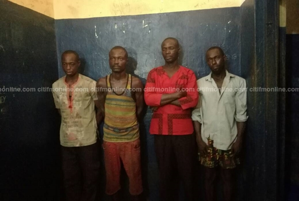 Four of the suspects in Capt. Mahama's murder