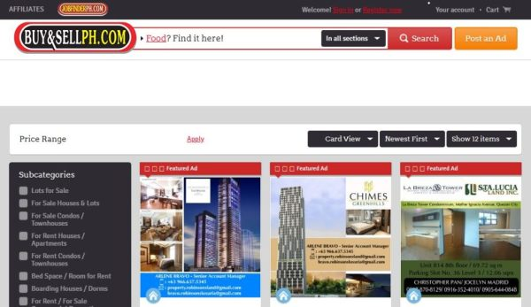 Buy & Sell PH | Philippine Real Estate Property Finder