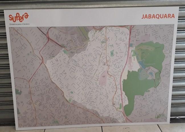 Mapa Ruas Determinada Região - Painel Para Alfinetes