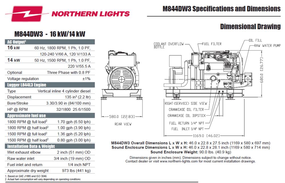 medium resolution of special equipment m844dw3 marine generator 16kw  14kw northern lights special equipment wiring diagram