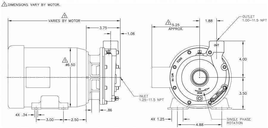 OBERDORFER 109MB Centrifugal Pump Head