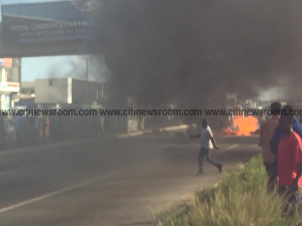 Residents block Madina-Adentan road as car knocks down one more person