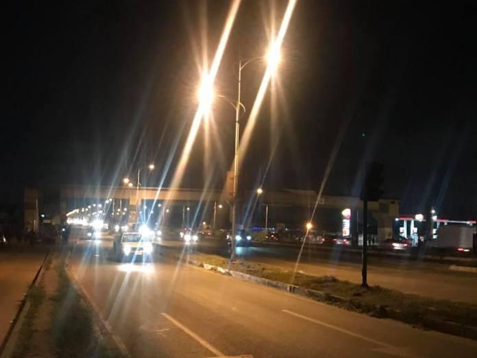 Adentan-Madina streetlights turned on as residents hold vigil[Photos]