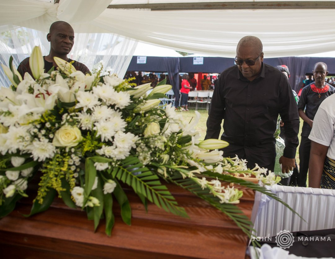 Former Education Minister Lee Ocran laid to rest