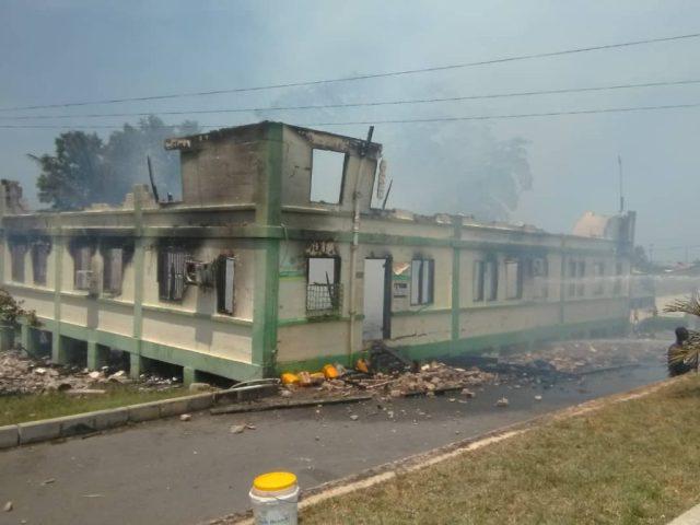 W/Region: Lands commission office razed by fire 3