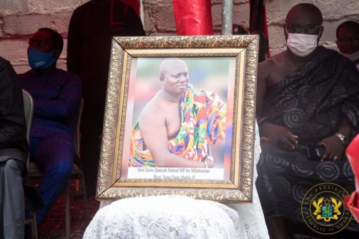 Akufo-Addo visits family of slain Mfantseman MP; assures them of befitting burial 1