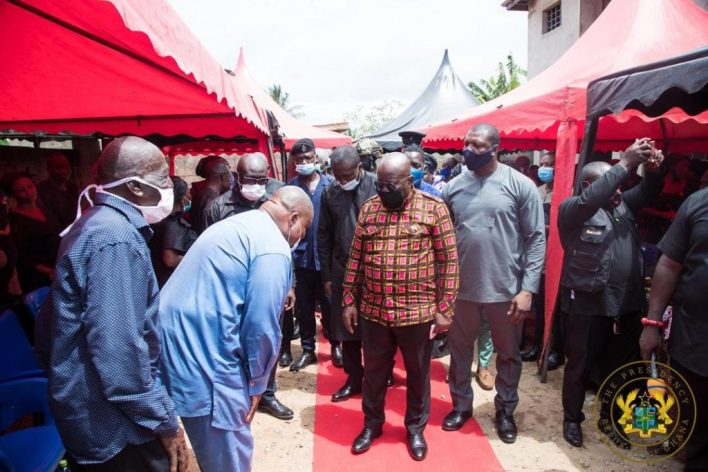 Akufo-Addo visits family of slain Mfantseman MP; assures them of befitting burial 6