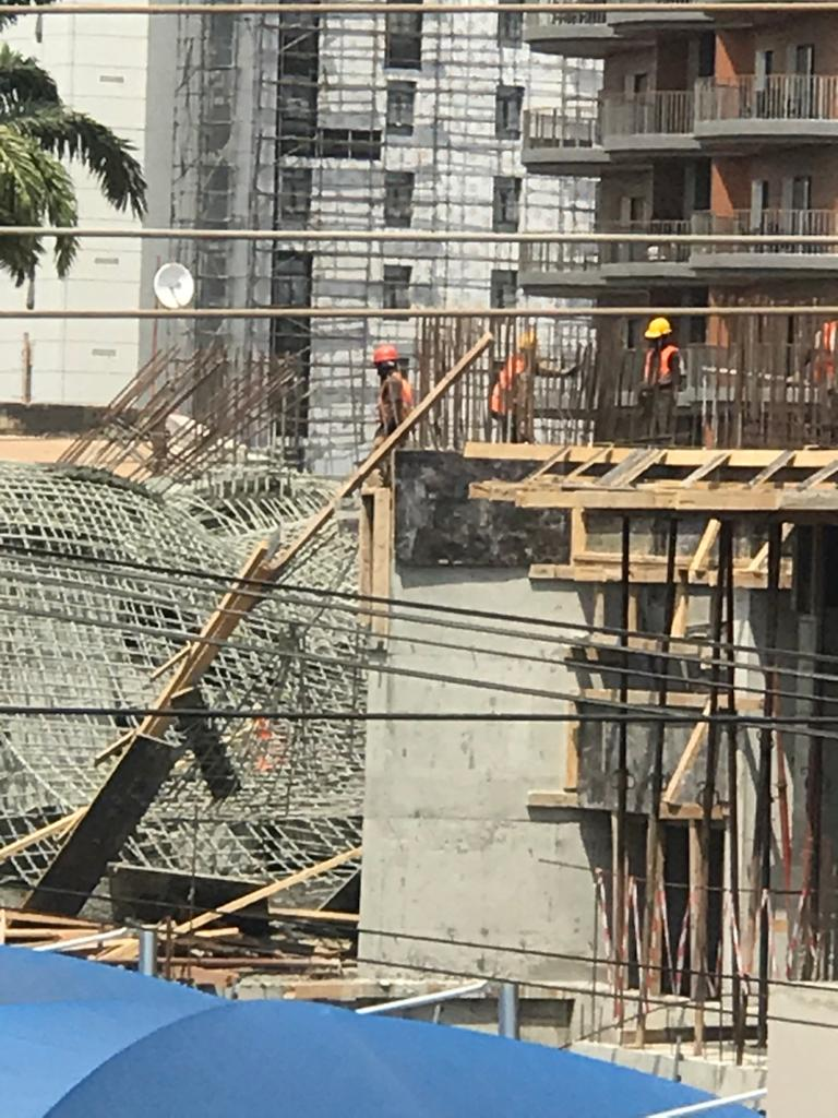 Workers injured as 22-storey building under construction collapses at Airport 3