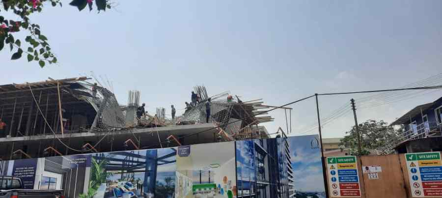 Workers injured as 22-storey building under construction collapses at Airport 2