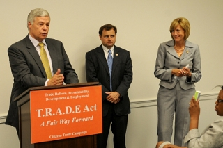 Red. Mike Michaud (D-Maine) introduces the TRADE Act.