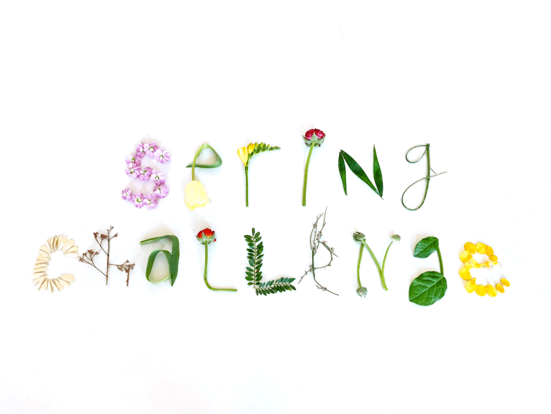 Spring Challenge logo with flowers