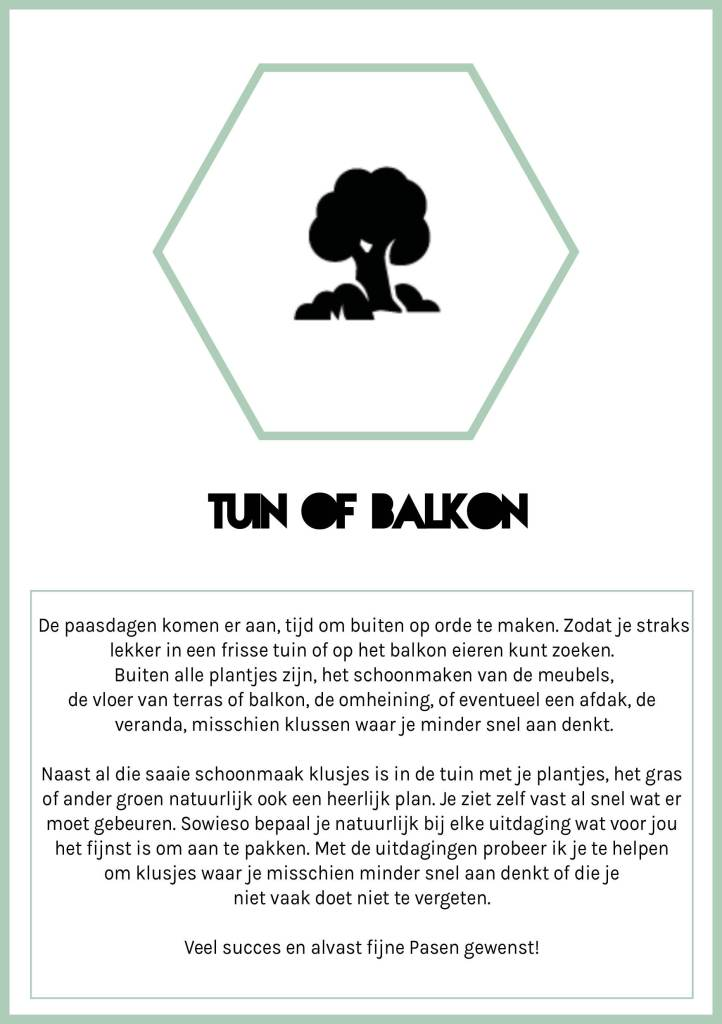 Tuin en balkon uitdaging Spring Challenge Citizen of 2020