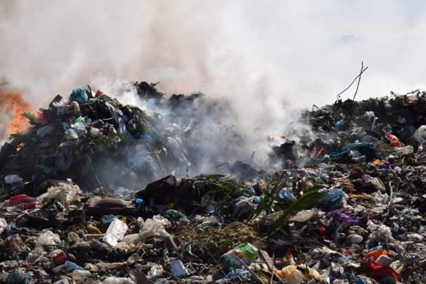 Djegia e mbeturinave në vendhedhjen e Porto-Romanos. Foto: Geri Emiri / Citizens Channel