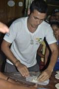 Benjamin mid tortilla contest at out community festival