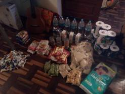 Some of the food we've bought with your donations so far
