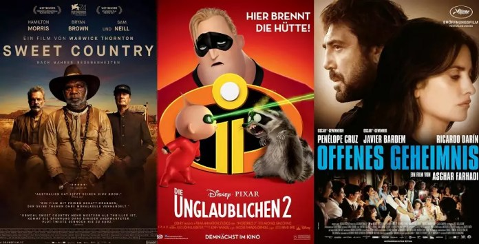 ©Grandfilm ©The Walt Disney Company Germany GmbH ©Prokino Sweet Country Die Unglaublichen 2 Offenes Geheimnis Kino Trailer Time