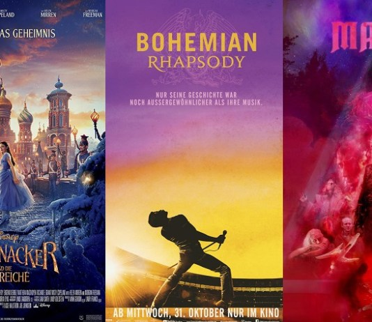 ©The Walt Disney Company Germany GmbH ©Koch Media ©Twentieth Century Fox GmbH Der Nussknacker und die vier reiche mandy bohemian rhapsody kino trailer time