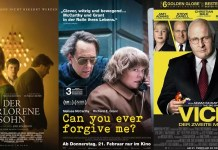 ©Universal Pictures ©Twentieth Century Fox ©Universum Film der verlorene sohn can you ever forgive me vice der zweite mann kino trailer time