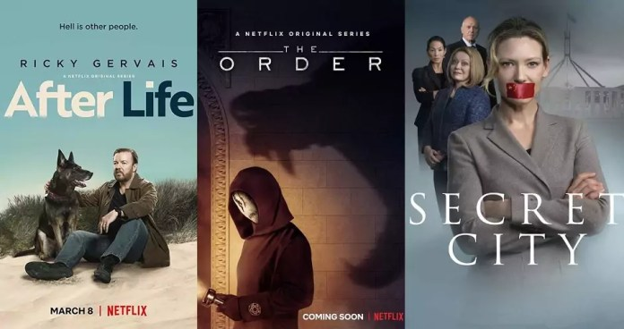 ©Netflix ©Showcase After life The order secret city serien trailer time