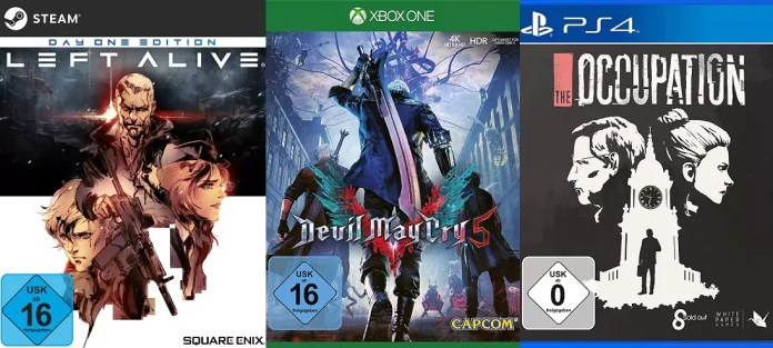 ©Square Enix ©Capcom ©White Paper Games Left Alive Devil May Cry 5 The Occupation Games trailer time