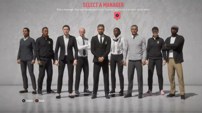 FIFA20CareerMode manager select