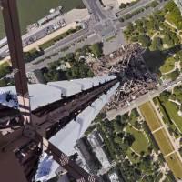 La tour Eiffel vue du haut de son antenne