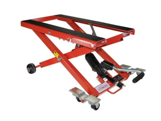 Citomerx Motorrad Hebebühne XL rot mit einer Tragkraft von 500 kg