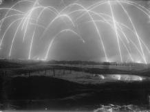 Guerre de tranchées. Photo prise par un photographe britannique au cours de la Première Guerre mondiale, 1917