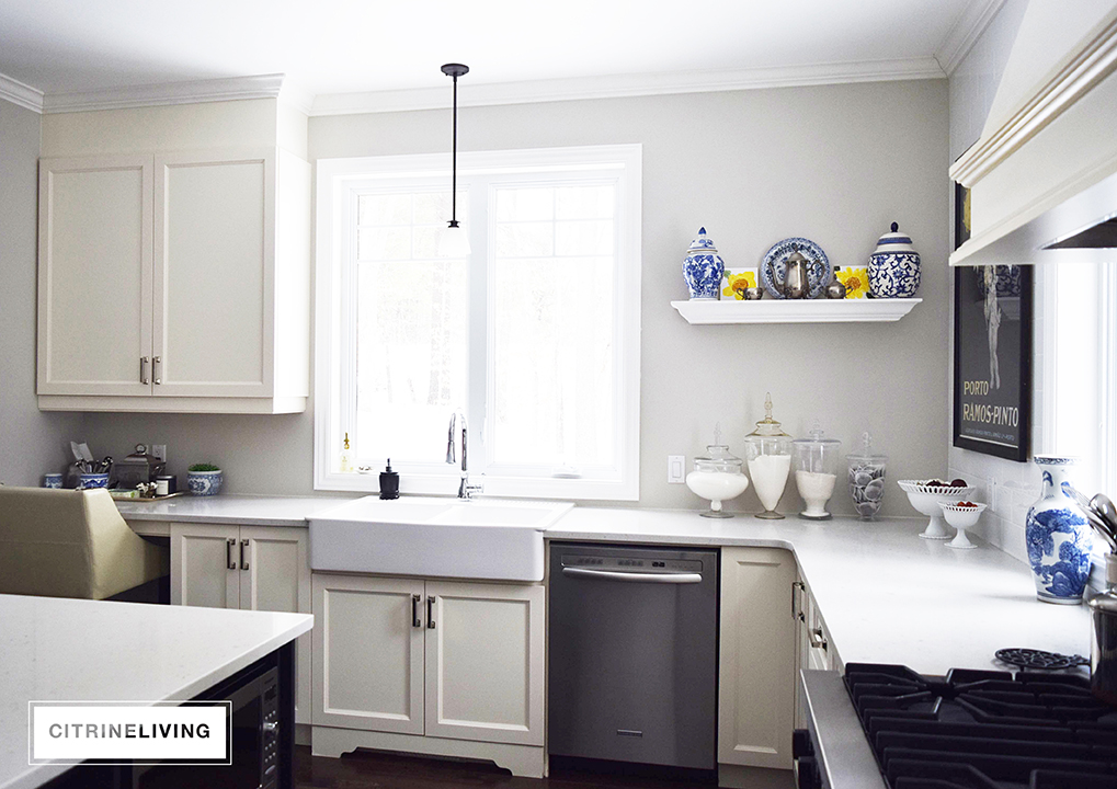 UPDATING THE KITCHEN WITH OPEN BUILT IN SHELVING