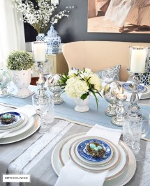 Citrineliving - Simple And Elegant Easter Tablescape