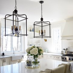 Lantern Kitchen Lighting White Chairs Citrineliving Spring In Full Swing Home Tour 2017