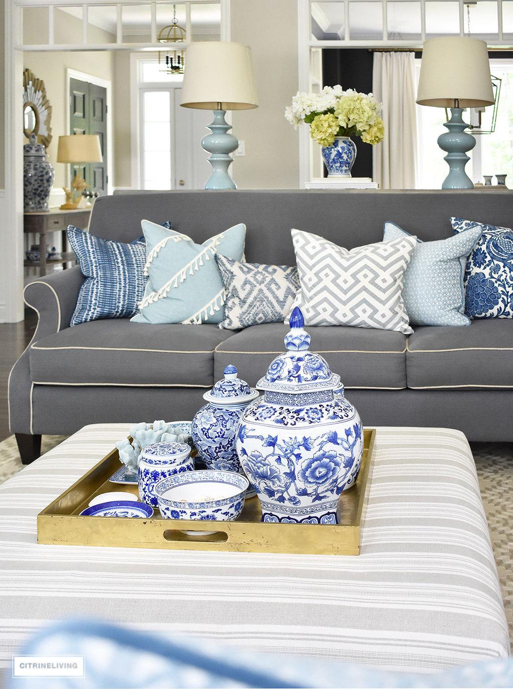 Ottoman Inspired Living Room