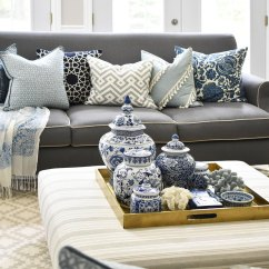 White And Blue Sofa Beds With Thick Mattress Uk 3 Ways To Style Your Coffee Table Or Ottoman