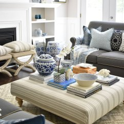 Ottoman Coffee Tables Living Room Grey And Light Blue Ideas 3 Ways To Style Your Table Or Make A Statement On With Stacks Of Books Decorative Boxes