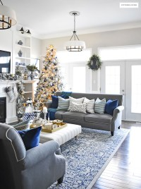 Blue And White Living Room - newlibrarygood.com