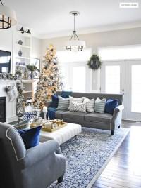 Blue And White Living Room - newlibrarygood.com