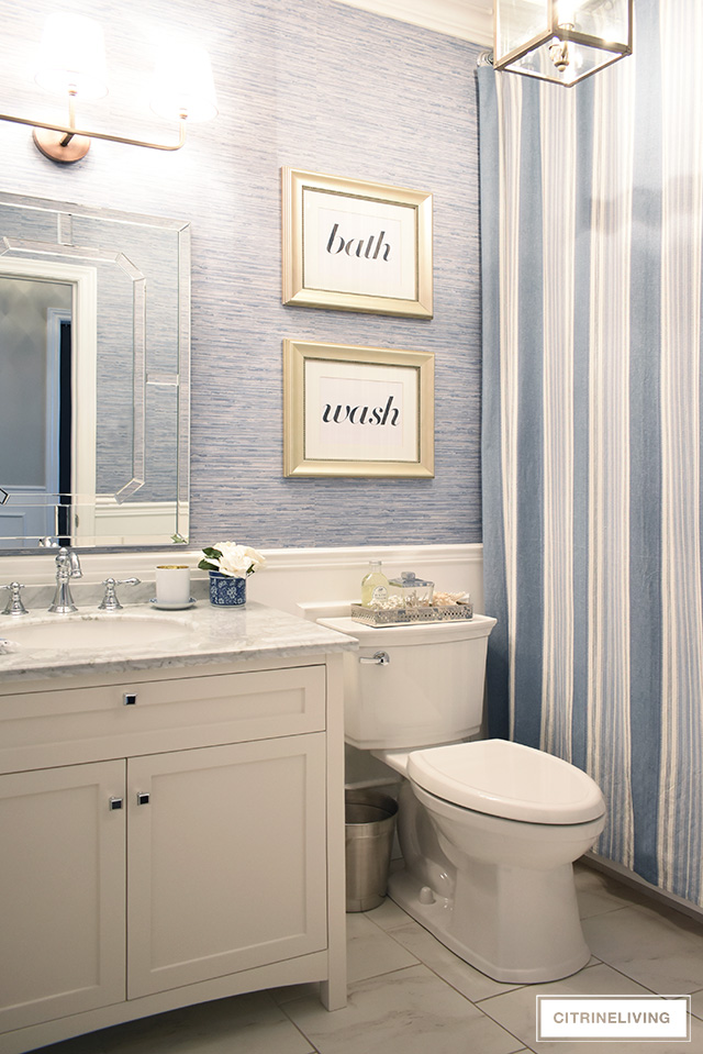 Our Kids Bathroom Gets A Chic Coastal Update With A Cl Ic White Vanity And