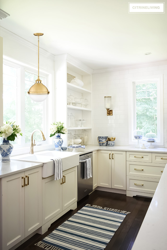 our new kitchen lighting and barstools