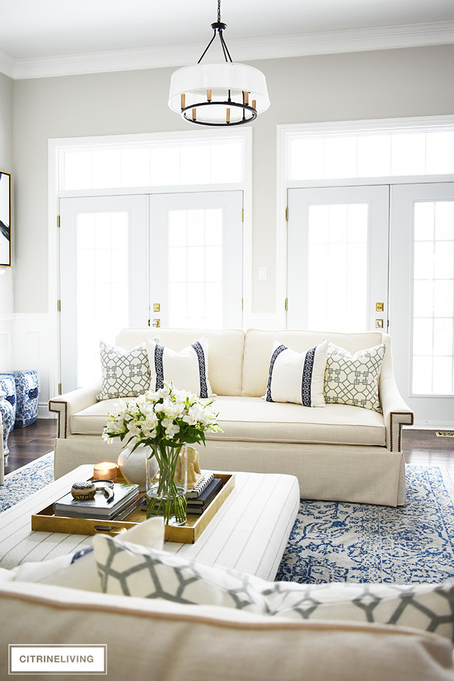 white sofa living room decor furniture toronto reveal with new sofas stunning create a brand look in our