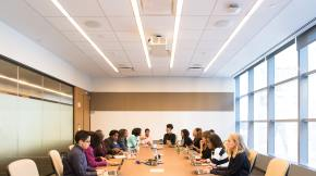 Workplace diversity - meeting in a boardroom