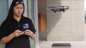 Ivy Nguyen, a computer science and engineering major, pilots a drone as part of CITRIS' women in tech initiative