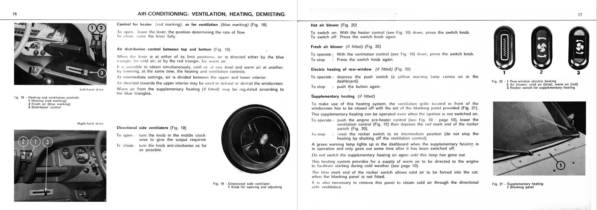 1972 Citroën GS owner's manual part 1