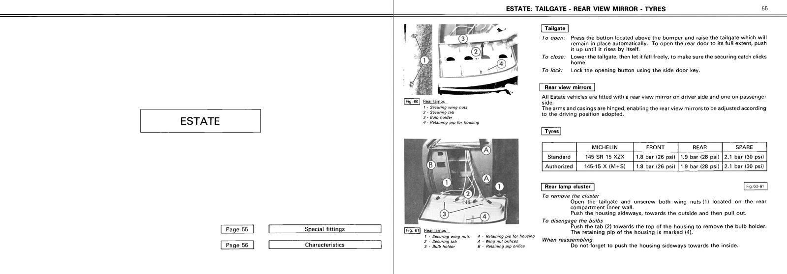 1980 Citroën GSA owner's manual Page 2/title>