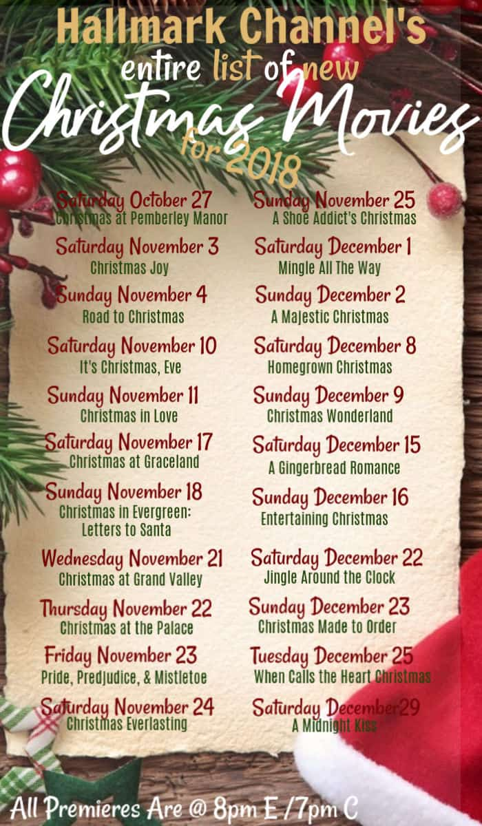 the full list of every new hallmark channel christmas movie debuting this season get in - Hallmark Christmas Movie List